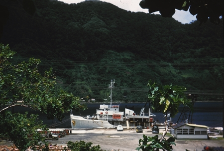 R/V Spencer F. Baird (Ship), moored at a dock in American Samoa located in the South Pacific Ocean, during the Capricorn E...