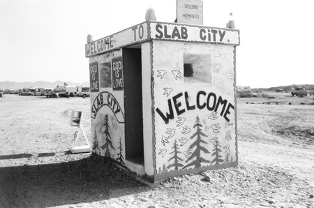Slab City: photograph of army guard house