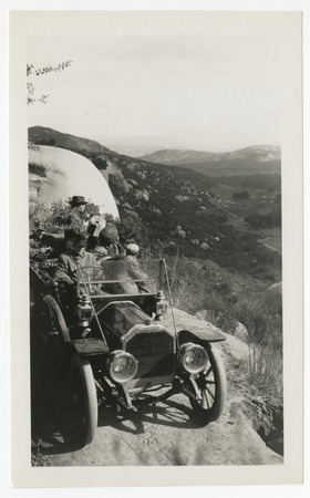 Ed Fletcher and others in automobile