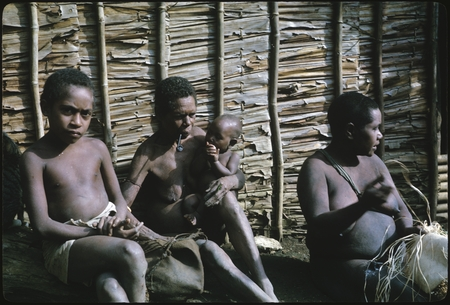 Kwaio people, Lamana in middle, and Sangosoea on right.