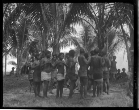 Girls dancing, Rennell Island.