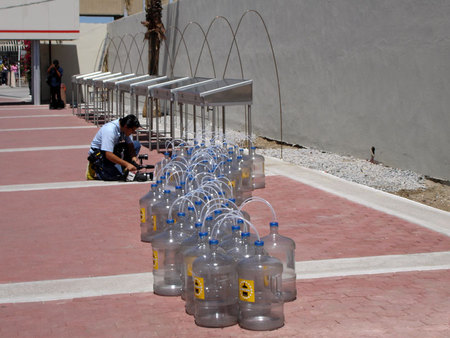 Dirty Water Initiative: solar collectors and water bottles