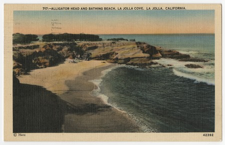 Alligator Head And Bathing Beach La Jolla Cove La Jolla California Library Digital Collections Uc San Diego Library