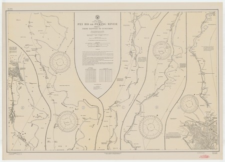 Asia-China : Gulf of Pechili (Pohai) : Pei Ho or Peking River (Peiping) sheet 3 from Tientsin to Tungchow