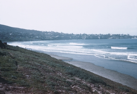 View of La Jolla, California, in the background as was seen from La Jolla Shores Beach and the Scripps Institution of Ocea...