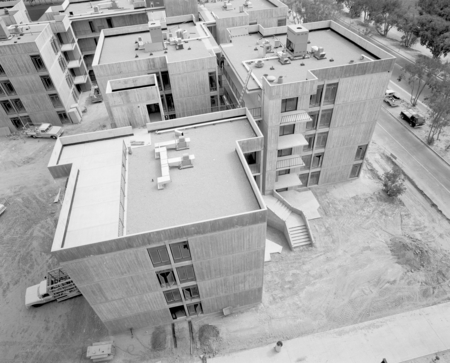 [Aerial view, construction at UCSD Muir College campus, cAugust 19, 1971]