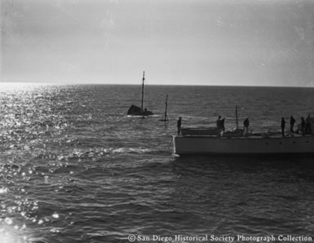 U.S. Coast Guart cutter 442 responding to sinking of California Fish and Game Commission patrol boat Bluefin