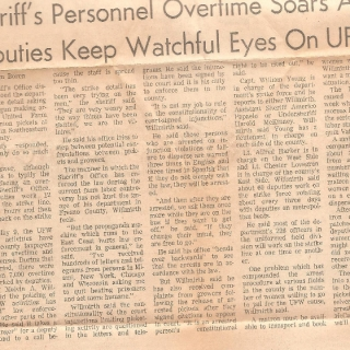 UFW Strikers Pack Jail / Fresno Bee Article / August 1, 1973