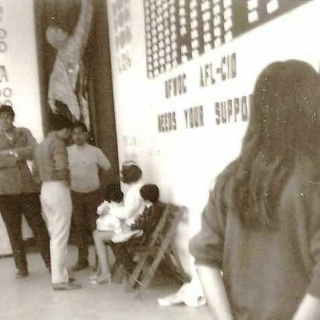 Cesar Chavez at Forty Acres UFW  Office Building / 1970
