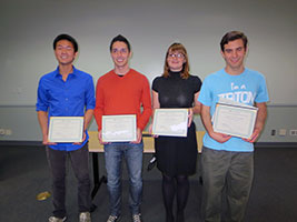 The 2013 Undergraduate Library Research Prize Winners.