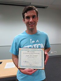 Douglas Myers-Turnbull (Marshall), 1st Prize winner in the Life & Physical Sciences category.