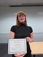 Kathleen Huggins (Muir), 1st Prize winner in the Social Sciences/Arts/Humanities category.
