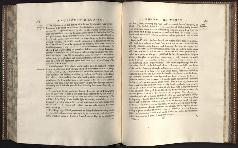 George Vancouver A Voyage Of Discovery To The North Pacific Ocean And Round World Vol II London 1798